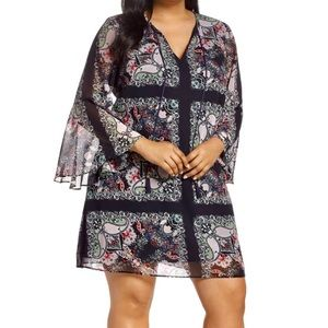 Vince Camuto Print Shift Dress NEW Plus Sz  22
